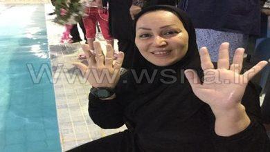 Photo of مهناز کریمی اولین زن رکورددار شنای استقامتی داخل استخر