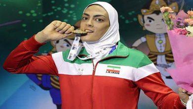 Photo of شهربانو مدال طلای ووشوی جهانی را به گردن آویخت