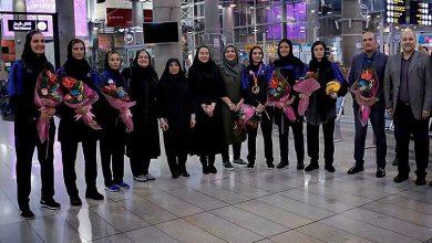 Photo of تیم ملی بسکتبال سه نفره دختران بامداد امروز وارد تهران شد