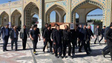 Photo of پیکر بانوی کماندار ایران تشییع و به خاک سپرده شد